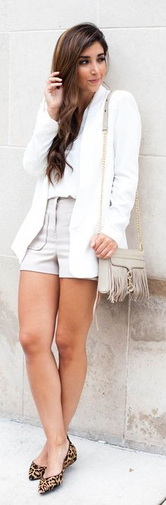 Grey Shorts Chic Style by The Darling Detail