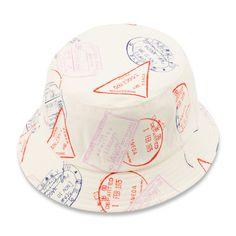 Gitman passport stamp bucket hat (Made in America, New York)