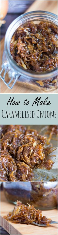 How to make Caramelised Onions. The foodie equivalent of a little black dress.   thecookspyjamas.com