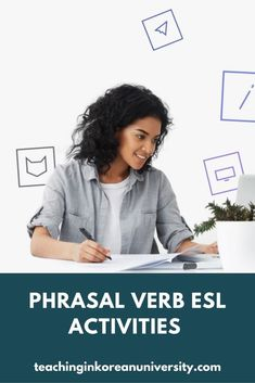 Find out all the top picks for ESL phrasal verbs games, activities, lesson plans, worksheets & more for teaching this new vocabulary. Have some fun with these phrasal verb lesson plans ideas for TEFL classes. #verb #verbs #phrasal #phrasalverb #phrasalverbs #teaching #education #tefl #efl #esl #tesol #esol #grammar #eslgrammar #englishgrammar Efl Teaching, Free Teaching Resources, Teaching Tips, Teacher Resources, Teaching English Grammar, Grammar And Vocabulary, Fun Classroom Games, Verb Games, Esl Lesson Plans