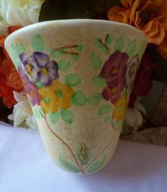 Vintage Pottery Wall Pocket Radford Exquisite by vintagelady7, $39.99