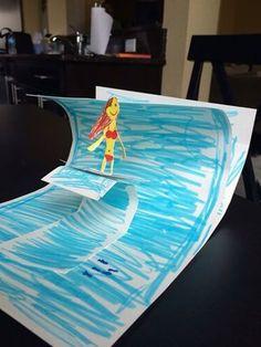 DIY 3D postcard | Csináld magad 3D képeslap