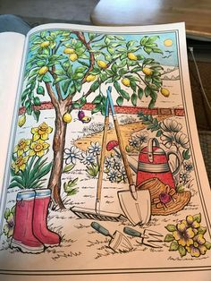 House Colouring Pages, Coloring Book Pages, Enchanted Forest Book, Creative Haven Coloring Books, Sign Sign, Country Charm, Heart For Kids, Drawing For Kids, Adult Coloring