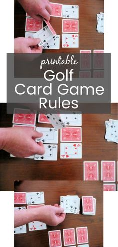 Awesome Quick Guide to Golf Rules Ideas. Fearsome Quick Guide to Golf Rules Ideas. Group Card Games, Golf Card Game, Family Card Games, Fun Card Games, Card Games For Kids, Playing Card Games, Fun Games, Games To Play, Family Activities
