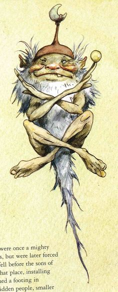 Brian Froud .. fairies and all sorts of fabulous little magical creatures.