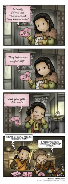 Valentine's Heist by Isriana.deviantart.com on @deviantART... Hahahaha
