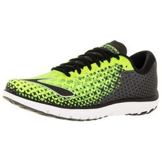Brooks Men's Pureflow 5 Running Shoe ($120) ❤ liked on Polyvore featuring men's fashion, men's shoes, men's athletic shoes, green, shoes, mens mesh shoes, mens running shoes, mens shoes, brooks mens shoes and mens green shoes