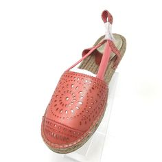 6f6894b517 Yellowbox Winsome Espadrille Flat Heel Women s SHOES Coral Size 8 Open  Slingback