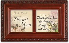 Dearest Mom Mother Wings To Fly Cottage Garden Music Musical Jewelry Box Plays Wind Beneath My Wings * You can find out more details at the link of the image.