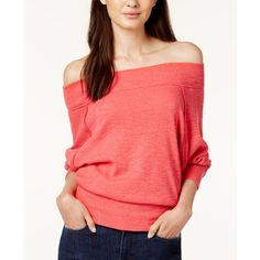 5bb675dfaf6491 Free People Palisades Off-The-Shoulder Sweater ( 68) ❤ liked on Polyvore