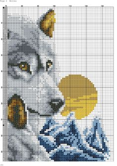 Cross Stitch Needles, Beaded Cross Stitch, Cross Stitch Embroidery, Embroidery Patterns, Cross Stitch Sampler Patterns, Cross Stitch Kits, Cross Stitch Charts, Wolf Craft, Crochet Dreamcatcher