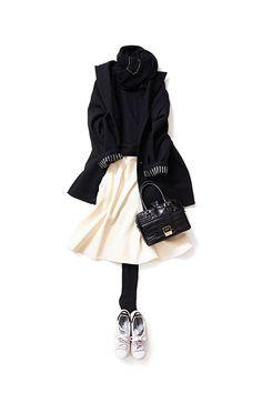 Kyoko Kikuchi's Closet | モノトーンを優しく女らしい雰囲気で纏う