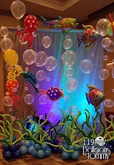 Balloons by Tommy - Balloon Room Decor - .- Luftballons von Tommy – Balloon Room Decor – Balloons by Tommy – Balloon Room Decor - Little Mermaid Birthday, Little Mermaid Parties, The Little Mermaid, Mermaid Theme Birthday, 1st Birthday Parties, Birthday Party Decorations, Party Themes, Ideas Party, Ocean Party Decorations