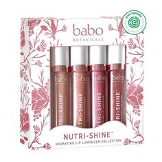 Babo Botanicals NutriShine Luminizer Vegan Lip Gloss Gift Set Natural Mint 056 Ounce *** You can get more details by clicking on the image. (This is an affiliate link) Thyme Flower, Natural Coconut Oil, Lipstick Art, Lipstick Colors, Lip Hydration, Lip Moisturizer, Shea Butter, Cocoa Butter, Lip Gloss