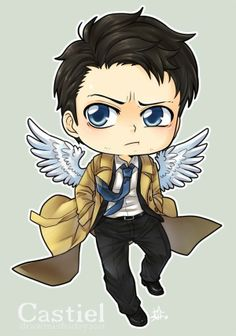 Oh my gosh just have this adorable fanart of Cas okay?