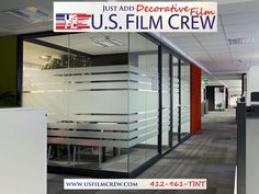 Add class to your office space with decorative window film.
