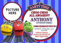 Chuggington Birthday Invitation  by Asapinvites on Etsy, $12.00