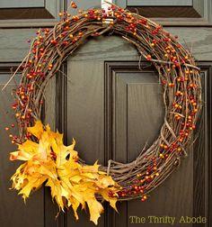 Simple but pretty I think . Thoughts? DIY Home Decor DIY Fall Crafts : Easy DIY Fall Wreath