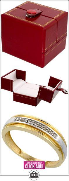 Revoni - Juego de alianzas de oro amarillo con diamante  ✿ Joyas para hombres especiales - lujo ✿ ▬► Ver oferta: https://comprar.io/goto/B005M36PPY