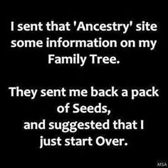 Quote / funny Ancestry
