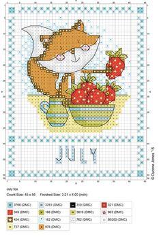 Fox and strawberries