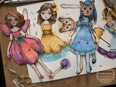 OOAK paper dolls | by The Girl with the Flaxen Hair