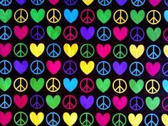 Colorful Peace Wallpaper