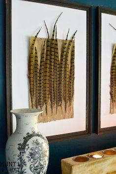 DIY pheasant feather