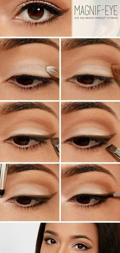 10 Easy Eye Makeup Ideas for Work Outfits As we speak we're going to inform you how one can have a easy eye make-up on your work outfits. There are 15 step-by-step eye make-up tutorials or con. Eyeliner Make-up, Makeup For Eyebrows, Brown Eyeliner, Makeup Tutorial For Beginners, Makeup Tutorials, Makeup Ideas, Makeup Hacks, Diy Makeup, Quick Makeup