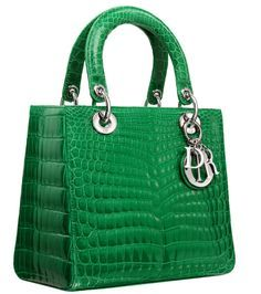 2014 COLLECTION  Lady Bag DIOR in Bottle Green
