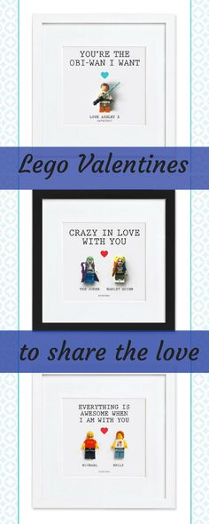 These Lego Valentines are great fun - for your partner, your kids or your bestie. Plus they'll look nice on the wall too. Win win. Lego love.  #lego #legolover #legofan #legogift #giftsforkids #valentinesalternativecard #ad