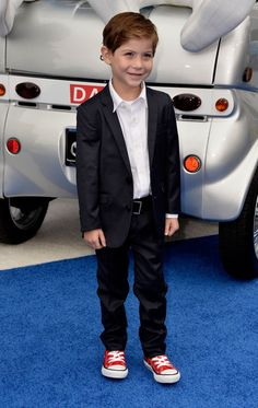 """Jacob Tremblay Photos - Actor Jacob Tremblay attends the premiere of Columbia Pictures' 'Smurfs 2' at Regency Village Theatre on July 28, 2013 in Westwood, California. - Premiere Of Columbia Pictures' """"Smurfs 2"""" - Arrivals"""