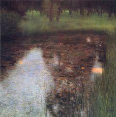 Calm Pond on the Kammer Castle Grounds c.1899 oil - Gustav Klimt