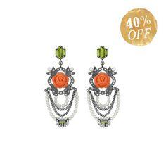 La Belle Rose Chandelier Earrings, were $68, now $40!  TODAY ONLY!!  www.chloeandisabel.com/boutique/brikay