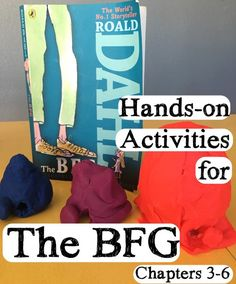 hands-on activities for The BFG Bfg Activities, Roald Dahl Activities, Hands On Activities, Classroom Activities, Classroom Ideas, The Bfg Book, Book Club Books, Bfg Roald Dahl, Reading Projects
