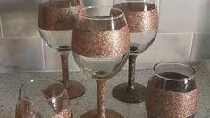 Tutorial DIY Glitter Wine Glasses - YouTube