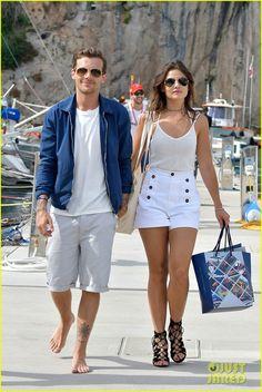 Louis Tomlinson & Danielle Campbell Arrive in Monaco