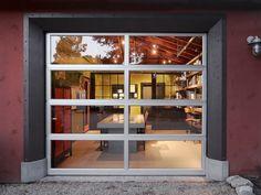 Glass garage door used as window/wall!