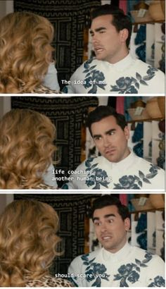 """When David rejected a career opportunity. 19 Times """"Schitt's Creek"""" Was The Best Canadian Show On TV Best Tv Shows, Favorite Tv Shows, David Rose, Human Rights Campaign, Dry Humor, Daniel Levy, Schitts Creek, Tv Quotes, Quotable Quotes"""