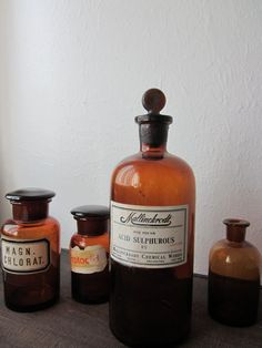 Antique Apothecary Bottle by housewarming101 on Etsy; would make an ironic bud vase