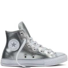 Prezzi e Sconti: #Chuck taylor all star metallic leather per Pure silver  ad Euro 89.00 in #Converse #Bambini tutti sneaker