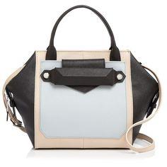 Botkier Reade Color Block Satchel ($315) ❤ liked on Polyvore featuring bags, handbags, black colorblock, satchel bag, botkier handbags, color block purse, convertible purse and colorblock handbags