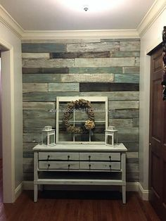 wood pallet wall art idea