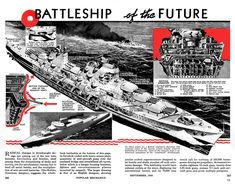"I stumbled across ""The Battleship of the Future"" in a Popular Mechanics issue from 1940. [2698x2111][xpost /r/ImaginaryWarships]"
