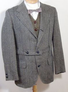Norfolk jacket- a loose, belted, single-breasted jacket with box pleats on the back and front, with a belt or half-belt.