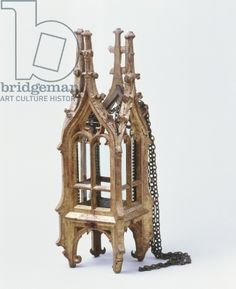 latareczka :) - Lantern in the form of a gothic tower (painted wood and iron), 15th century
