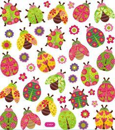 Ladybug Stickers • Bugs Glitter Stickers