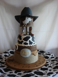 Western rodeo theme grooms cake By SweetSadie on CakeCentral.com