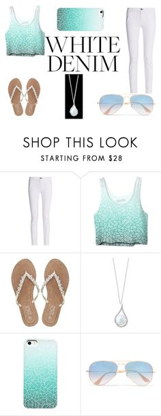 Summer Set #1 by sandstormthenerd on Polyvore featuring rag & bone, M&Co, Effy Jewelry, Ray-Ban and whitejeans
