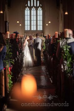 Bride and groom during church ceremony at Lulworth Estate Dorset #weddingceremony #bride #groom #dorsetwedding